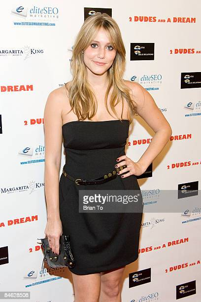 Actress Julianna Guill arrives at '2 Dudes And A Dream' Los Angeles Premiere Arrivals at Arc Light Cinema on February 3 2009 in Hollywood California