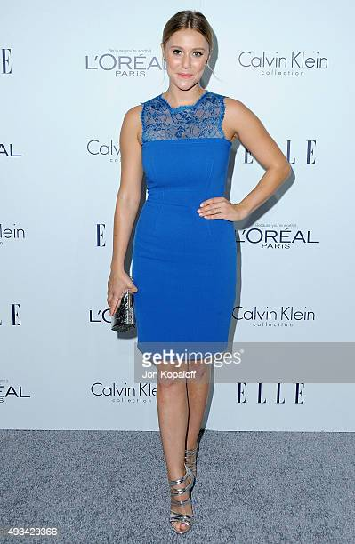 Actress Julianna Guill arrives at the 22nd Annual ELLE Women In Hollywood Awards at Four Seasons Hotel Los Angeles at Beverly Hills on October 19...