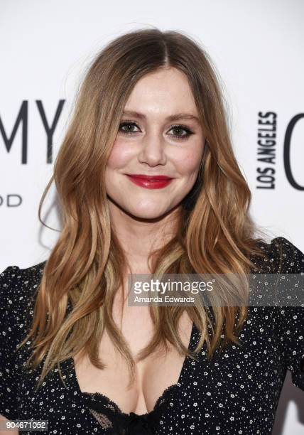 Actress Julianna Guill arrives at the Los Angeles Confidential Awards Issue Celebration hosted by cover stars Alison Brie Milo Ventimiglia and Ana de...