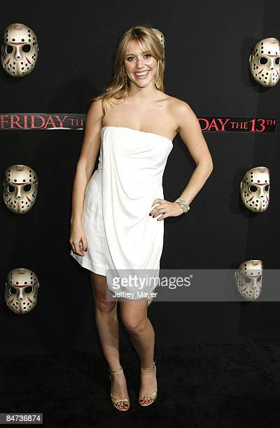 Actress Julianna Guill arrives at the Los Angeles premiere of 'Friday The 13th' at Grauman's Chinese Theater on February 9 2009 in Hollywood...