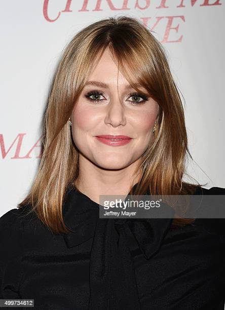 Actress Julianna Guill arrives at the premiere of Unstuck's 'Christmas Eve' at the ArcLight Hollywood on December 2 2015 in Hollywood California