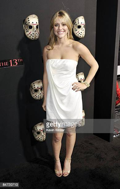 Actress Julianna Guill arrives at the premiere of Warner Bros' Friday the 13th at the Chinese Theater on February 9 2009 in Los Angeles California