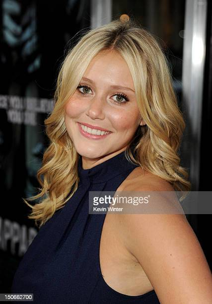 Actress Julianna Guill arrives at the premiere of Warner Bros Pictures The Apparition at the Chinese Theatre on August 23 2012 in Los Angeles...