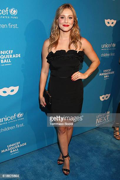 Actress Julianna Guill at the fourth annual UNICEF Next Generation Masquerade Ball on October 27 2016 in Los Angeles California