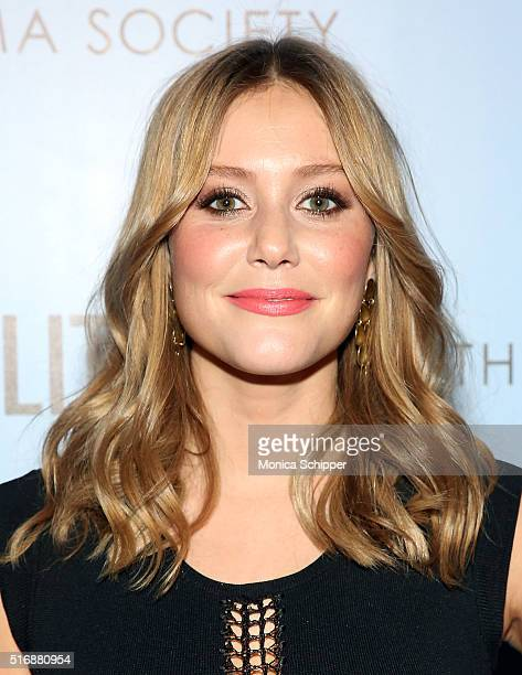 Actress Julianna Guill attends Fox Searchlight Pictures with The Cinema Society Host A Screening of 'Demolition' at SVA Theatre on March 21 2016 in...