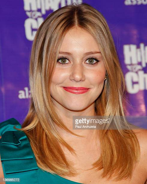 Actress Julianna Guill attends the 1st annual Hilarity For Charity benefiting the Alzheimer's Association at Vibiana on January 13 2012 in Los...