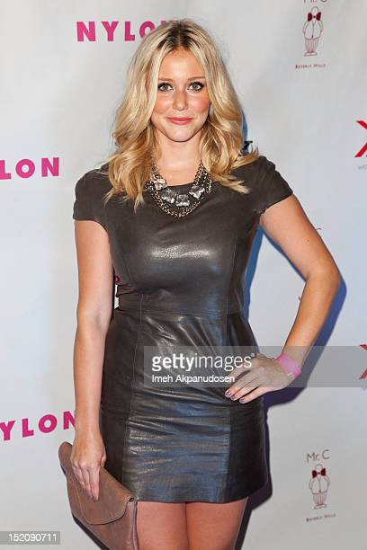 Actress Julianna Guill attends the NYLON And Sony X Headphones September TV Issue Party at Mr C Beverly Hills on September 15 2012 in Beverly Hills...