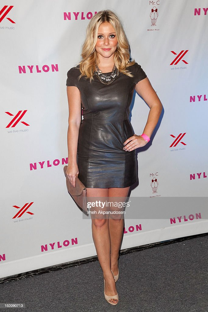 NYLON And Sony X Headphones September TV Issue Party Hosted By Lea Michele : News Photo
