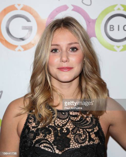 Actress Julianna Guill attends the opening of Glow Bio organic smoothie and juice bar at Glow Bio on November 14 2012 in West Hollywood California