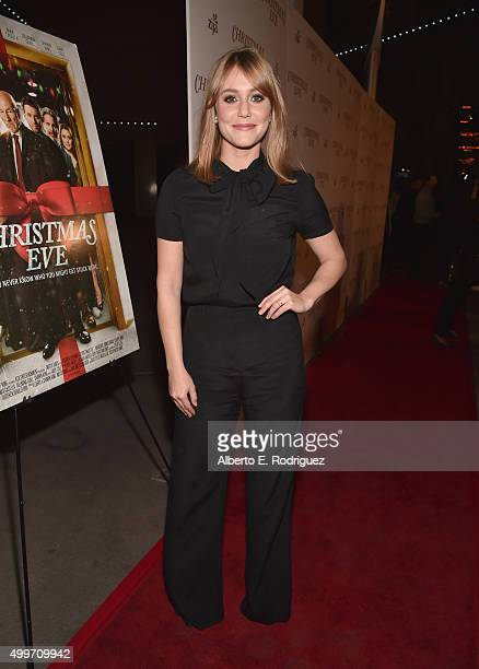 Actress Julianna Guill attends the premiere of Christmas Eve at ArcLight Hollywood on December 2 2015 in Hollywood California