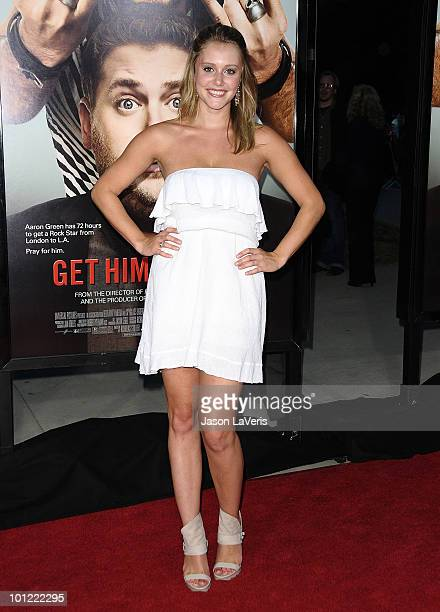 Actress Julianna Guill attends the premiere of Get Him To The Greek at The Greek Theatre on May 25 2010 in Los Angeles California
