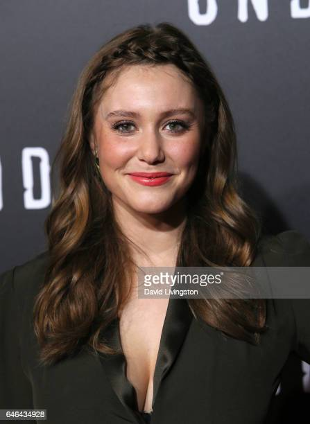 Actress Julianna Guill attends the premiere of WGN America's 'Underground' Season 2 at Westwood Village on February 28 2017 in Los Angeles California