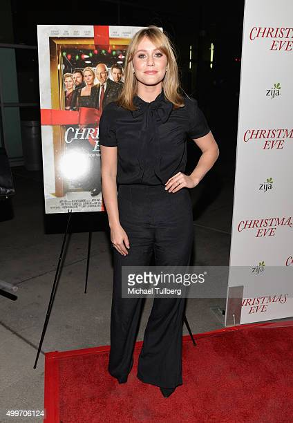 Actress Julianna Guill attends the world premiere of Unstuck's 'Christmas Eve' at ArcLight Hollywood on December 2 2015 in Hollywood California