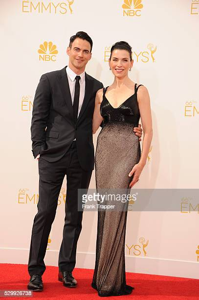 Actress Julianna Marguiles and Keith Lieberthal arrive at the 66th Annual Primetime Emmy�� Awards held at the Nokia Theater LA Live