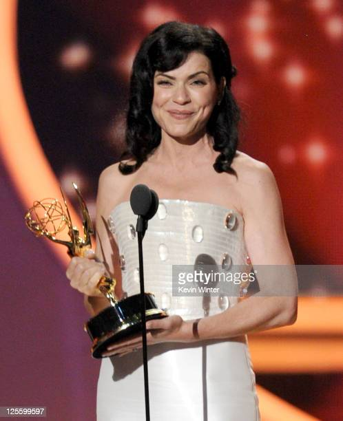 Actress Julianna Margulies accepts the Outstanding Lead Actress in a Drama Series award onstage during the 63rd Annual Primetime Emmy Awards held at...