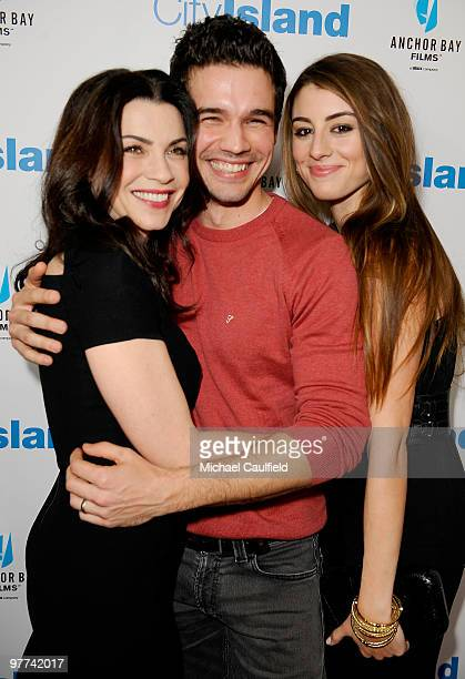 Actress Julianna Margulies actor Steven Strait and actress Dominik GarciaLorido arrive at the Los Angeles premiere of City Island held at Westside...