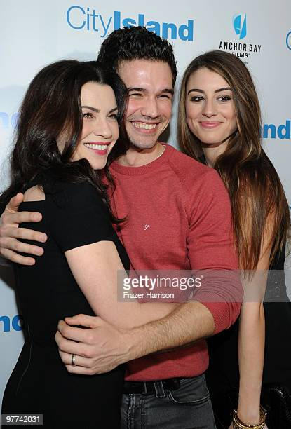 Actress Julianna Margulies actor Steven Strait and actress Dominik GarciaLorido arrive at Anchor Bay Films' City Island premiere held at the Landmark...
