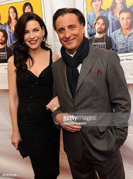 Actress Julianna Margulies and actor Andy Garcia attend the premiere of City Island at The Directors Guild of America Theater on March 10 2010 in New...