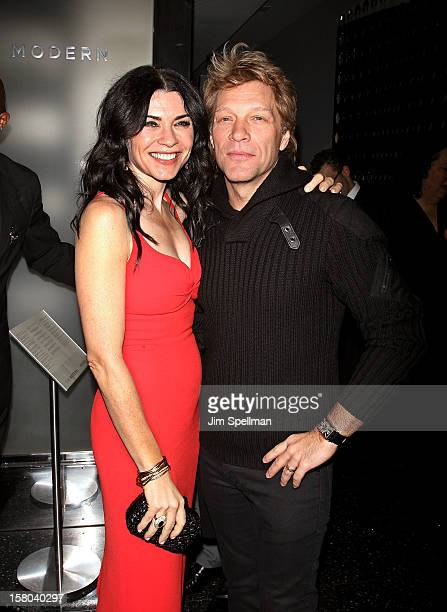 """Actress Julianna Margulies and actor/singer Jon Bon Jovi attend The Cinema Society With Chrysler & Bally premiere of """"Stand Up Guys"""" at Museum of..."""