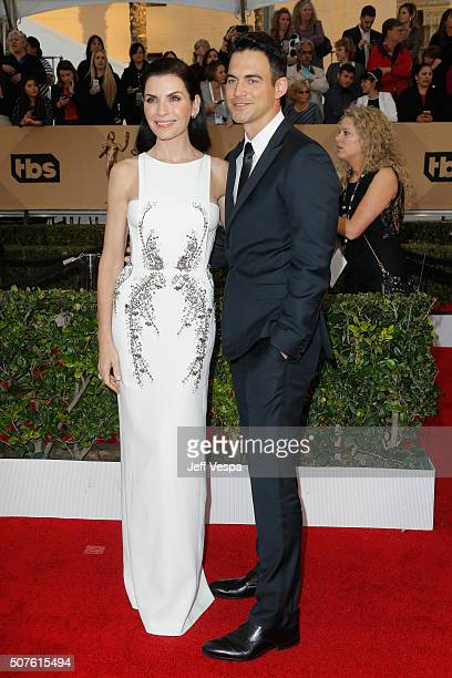 Actress Julianna Margulies and attorney Keith Lieberthal attend the 22nd Annual Screen Actors Guild Awards at The Shrine Auditorium on January 30...