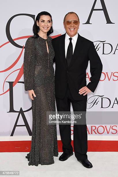 Actress Julianna Margulies and designer Michael Kors attend the 2015 CFDA Fashion Awards at Alice Tully Hall at Lincoln Center on June 1 2015 in New...
