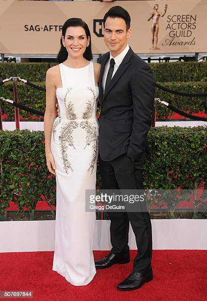 Actress Julianna Margulies and husband Keith Lieberthal arrive at the 22nd Annual Screen Actors Guild Awards at The Shrine Auditorium on January 30...