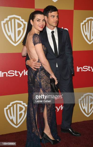 Actress Julianna Margulies and husband Keith Lieberthal attend the 2013 InStyle and Warner Bros 70th Annual Golden Globe Awards PostParty held at the...