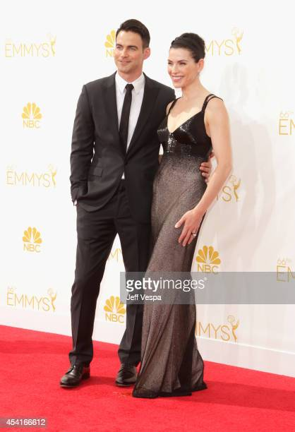 Actress Julianna Margulies and Keith Lieberthal attend the 66th Annual Primetime Emmy Awards held at Nokia Theatre LA Live on August 25 2014 in Los...