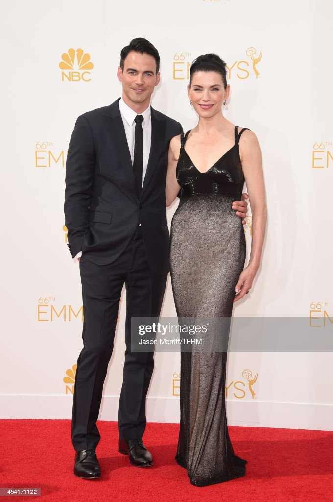 Actress Julianna Margulies (R) and Keith Lieberthal attend the 66th Annual Primetime Emmy Awards held at Nokia Theatre L.A. Live on August 25, 2014 in Los Angeles, California.