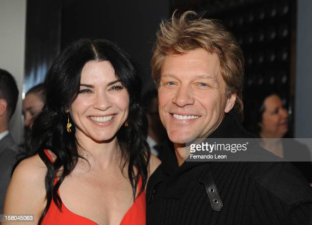 Actress Julianna Margulies and musician Jon Bon Jovi attend the premiere of Stand Up Guys hosted by The Cinema Society with Chrysler and Bally at...