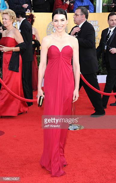 Actress Julianna Margulies arrives at the 17th Annual Screen Actors Guild Awards held at The Shrine Auditorium on January 30, 2011 in Los Angeles,...