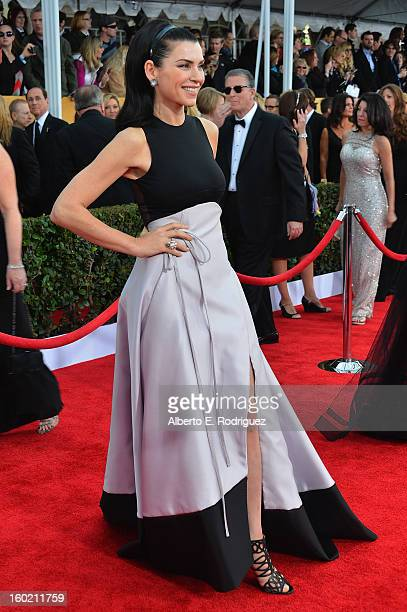 Actress Julianna Margulies arrives at the 19th Annual Screen Actors Guild Awards held at The Shrine Auditorium on January 27, 2013 in Los Angeles,...