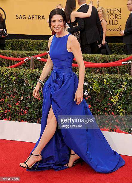 Actress Julianna Margulies arrives at the 21st Annual Screen Actors Guild Awards at The Shrine Auditorium on January 25 2015 in Los Angeles California