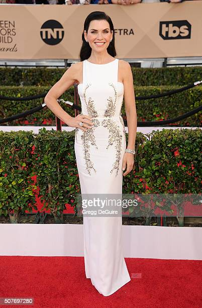 Actress Julianna Margulies arrives at the 22nd Annual Screen Actors Guild Awards at The Shrine Auditorium on January 30 2016 in Los Angeles California