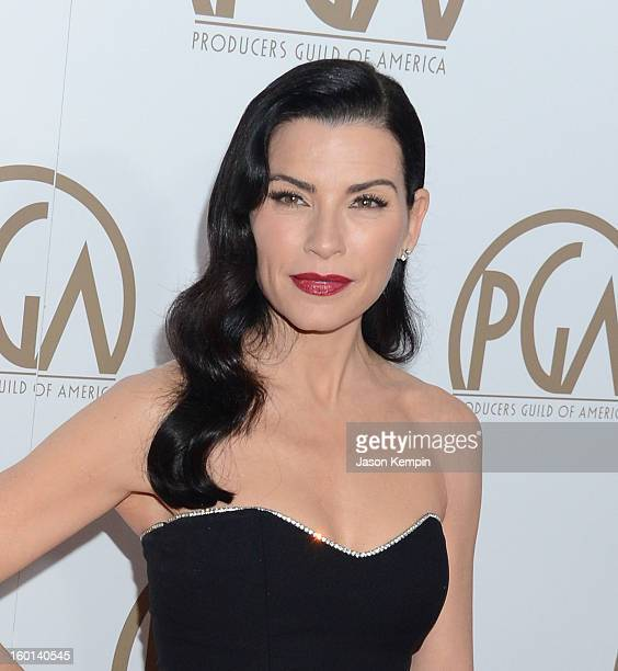 Actress Julianna Margulies arrives at the 24th Annual Producers Guild Awards held at The Beverly Hilton Hotel on January 26 2013 in Beverly Hills...