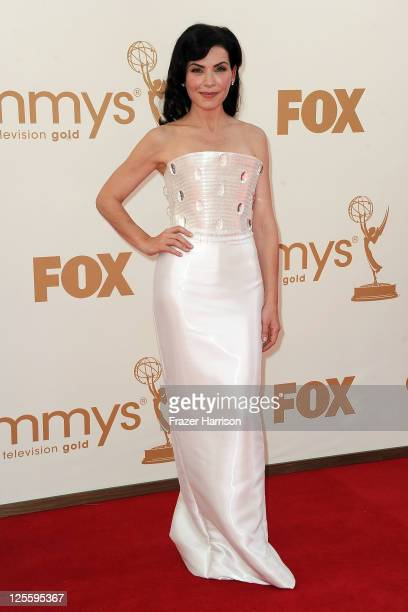 Actress Julianna Margulies arrives at the 63rd Annual Primetime Emmy Awards held at Nokia Theatre LA LIVE on September 18 2011 in Los Angeles...