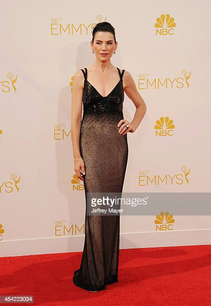 Actress Julianna Margulies arrives at the 66th Annual Primetime Emmy Awards at Nokia Theatre L.A. Live on August 25, 2014 in Los Angeles, California.