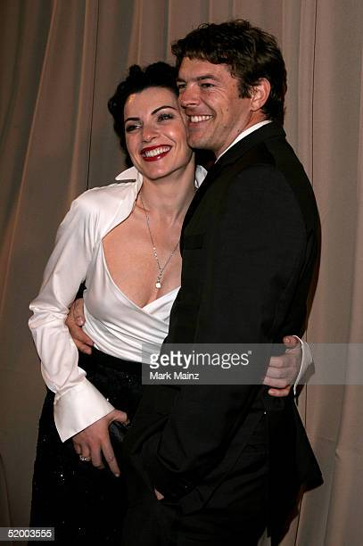 Actress Julianna Margulies arrives at the Miramax 2005 Golden Globes After Party at Trader Vics on January 16 2005 in Beverly Hills California