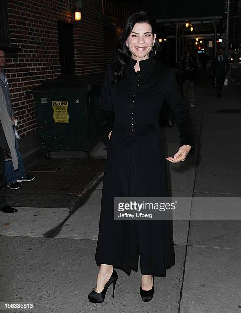 Actress Julianna Margulies arrives to Late Show with David Letterman at Ed Sullivan Theater on November 13 2012 in New York City