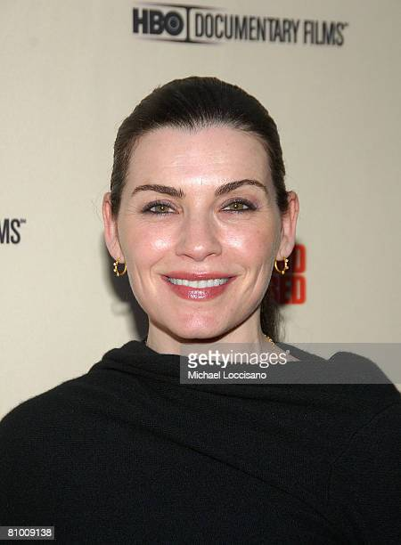 Actress Julianna Margulies attend the HBO Documentaries premiere Of Roman Polanski Wanted And Desired at The Paris Thatre in New York City on May 6...