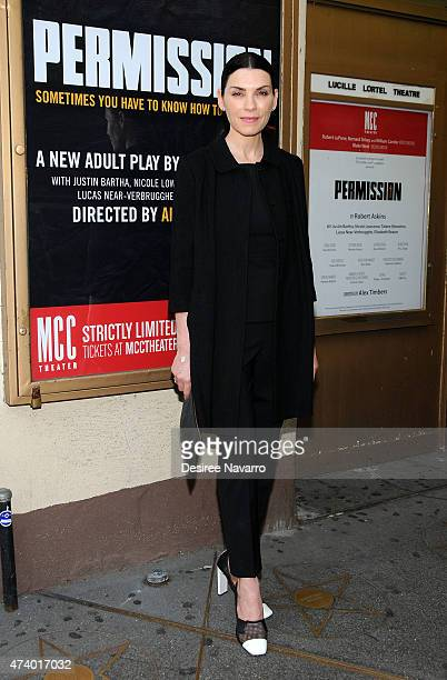 Actress Julianna Margulies attends 'Permission' opening night at Lucille Lortel Theatre on May 19 2015 in New York City