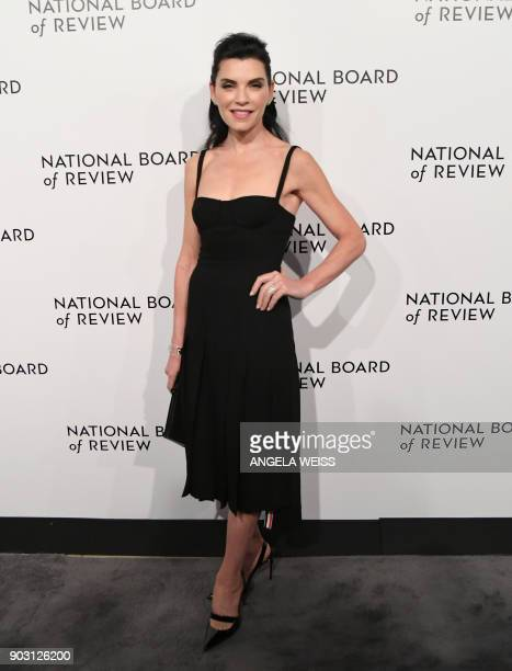 Actress Julianna Margulies attends the 2018 National Board of Review Awards Gala at Cipriani 42nd Street on January 9 2018 in New York City / AFP...