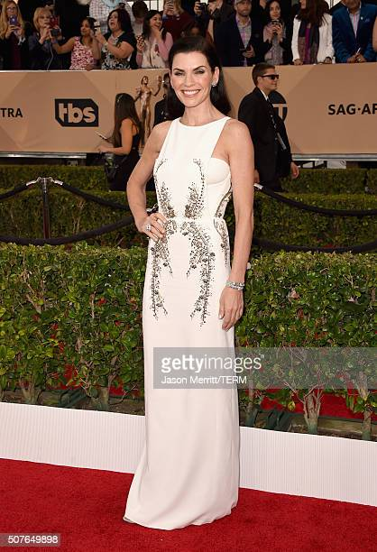 Actress Julianna Margulies attends The 22nd Annual Screen Actors Guild Awards at The Shrine Auditorium on January 30 2016 in Los Angeles California...