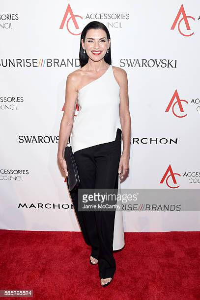 Actress Julianna Margulies attends the Accessories Council 20th Anniversary celebration of the ACE awards at Cipriani 42nd Street on August 2 2016 in...