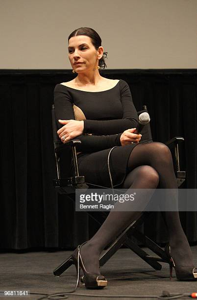 Actress Julianna Margulies attends the Film Society of Lincoln Center's screening of ''City Island'' at the Walter Reade Theater on February 17 2010...