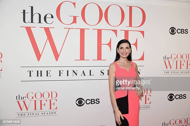 Actress Julianna Margulies attends 'The Good Wife' Finale Party at Museum of Modern Art on April 28 2016 in New York City