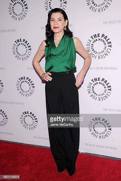 Actress Julianna Margulies attends The Paley Center For Media Presents She's Making Media Julianna Margulies at Paley Center For Media on February 20...