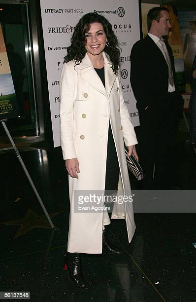 Actress Julianna Margulies attends the premiere of Pride Prejudice at Loews Lincoln Square November 10 2005 in New York City
