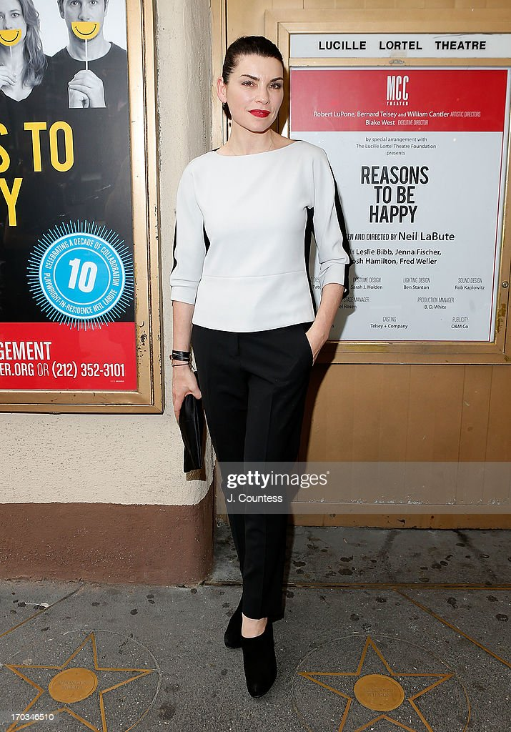 Actress Julianna Margulies attends the 'Reasons To Be Happy' Broadway Opening Night at Lucille Lortel Theatre on June 11, 2013 in New York City.