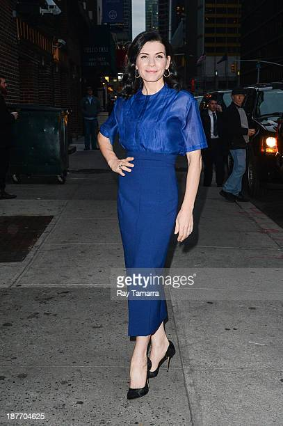 Actress Julianna Margulies enters the Late Show With David Letterman taping at the Ed Sullivan Theater on November 11 2013 in New York City